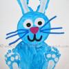 Paper Plate Footprint Bunny