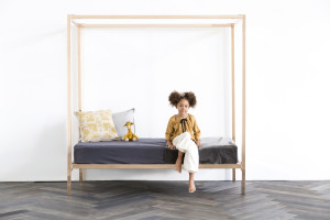 Incy Interior's Megan Morton four poster bed in rose gold, $1299