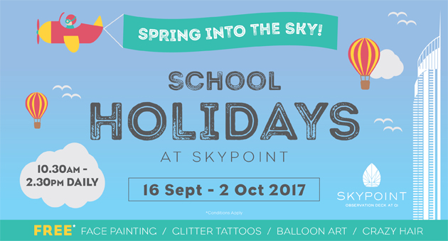 Spring into the Sky these School Holidays