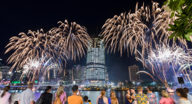 New Year's Eve Fireworks // Brisbane